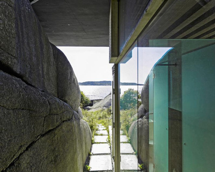 12 seaside cabin stepped concrete roof lund hagem