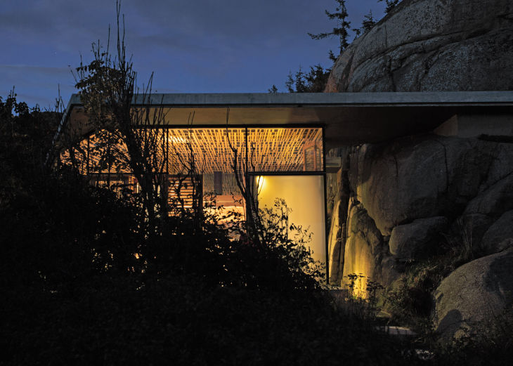 13 seaside cabin stepped concrete roof lund hagem