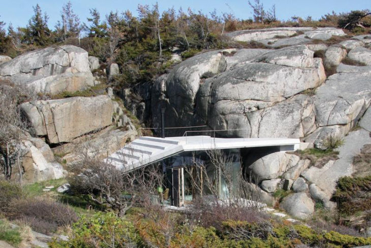 3 seaside cabin stepped concrete roof lund hagem