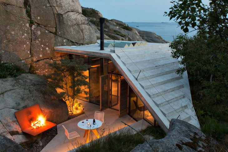 5 seaside cabin stepped concrete roof lund hagem
