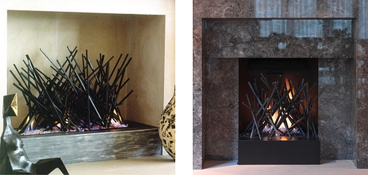 2 metal fireplace grills cathy azria