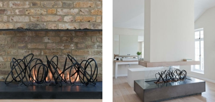 3 metal fireplace grills cathy azria
