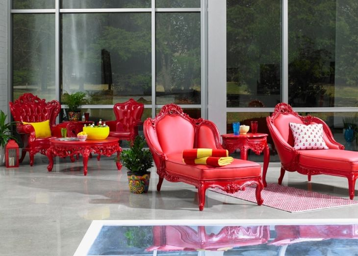 6 outdoor plastic seating traditional victorian shapes modern colours