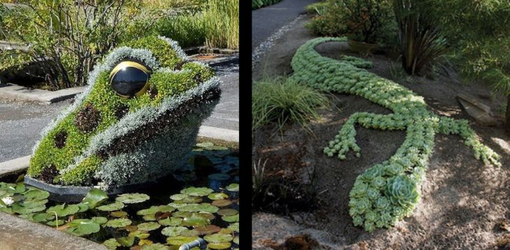 15 animal shaped topiary