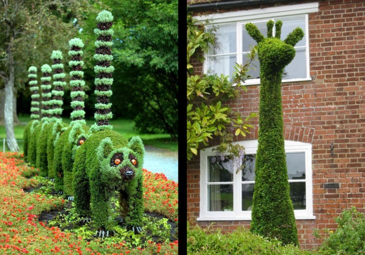 21 animal shaped topiary