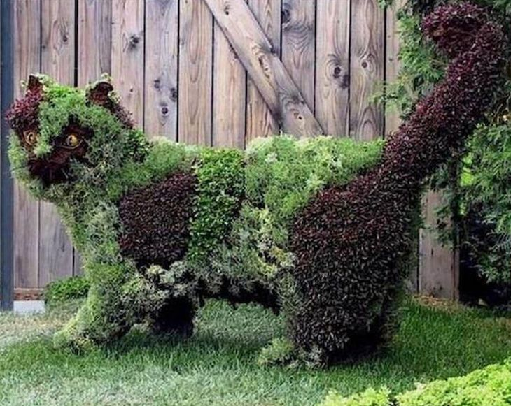 4 animal shaped topiary