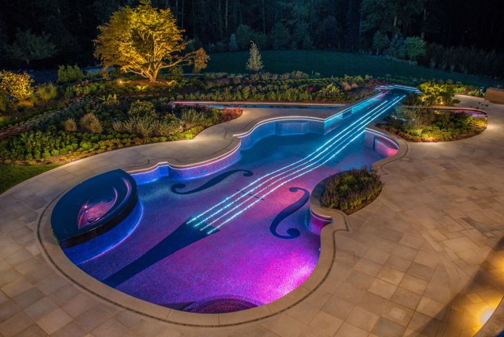 1 volin shaped swimming pool cipriano landscape design